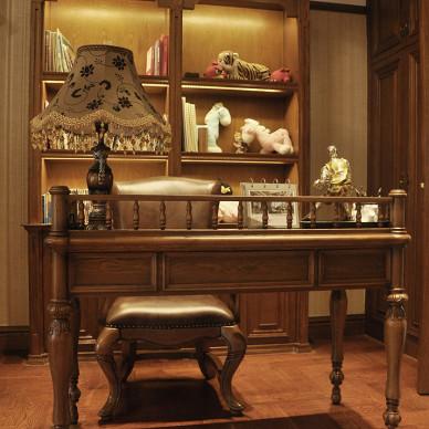古典欧式风格别墅书房设计