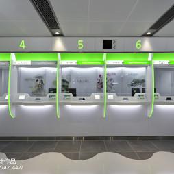 香港恒生银行柜台设计