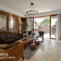 新中式风格别墅客厅设计案例
