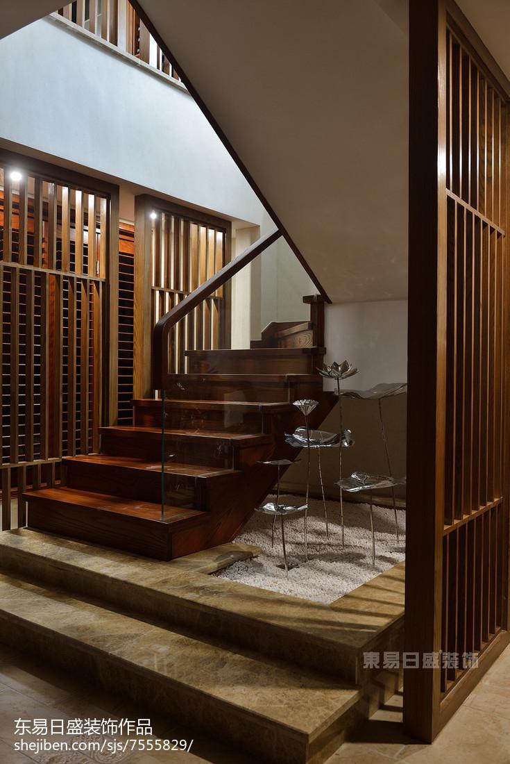 现代风格吊灯模型_家居新中式风格楼梯设计 – 设计本装修效果图