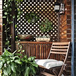 自然美式风格阳台设计