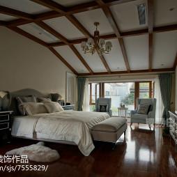 美式风格卧室吊顶设计