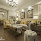 温暖美式客厅设计