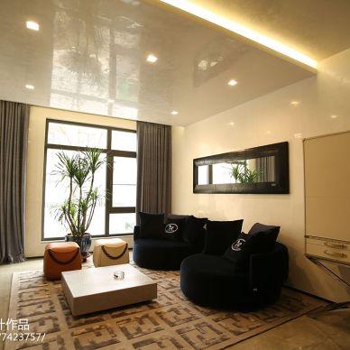 别墅现代风格客厅装修图片