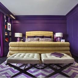 地中海风格紫色别墅设计