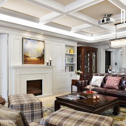 别墅美式风格客厅装修