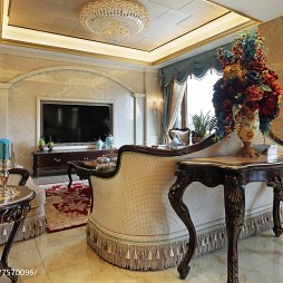 华丽欧式风格客厅设计