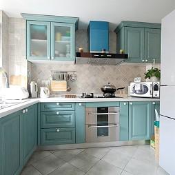 混搭風格藍色櫥柜設計