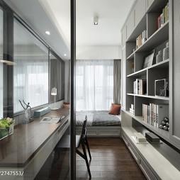 现代风格四居室书房装修