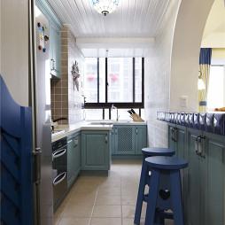 海蓝色地中海风格厨房设计