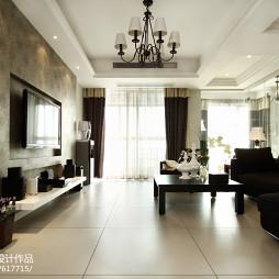 现代美式风格客厅装修案例