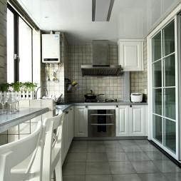 白色美式厨房设计