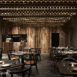 工装木质餐厅设计