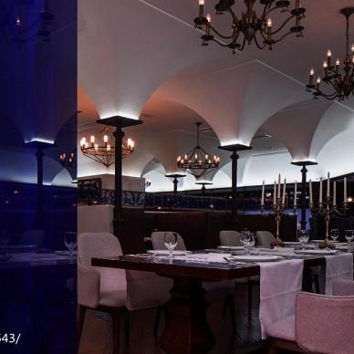 戈雅法餐厅就餐区效果图