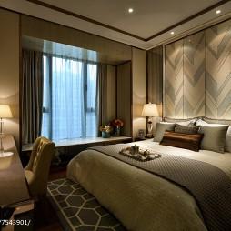 家装现代风格样板房卧室装修