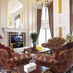 华丽欧式别墅客厅装修