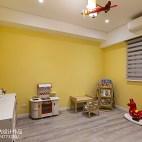 黄色系简约风格休闲区设计