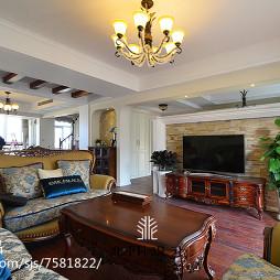 华贵美式客厅装修