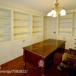 美式风格复式书房装修