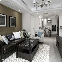 美式风格家居客厅布置