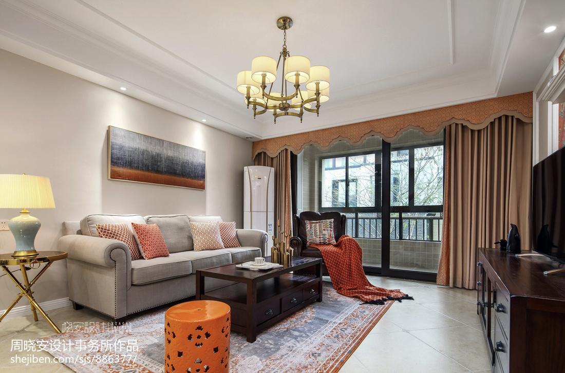 简约美式风格客厅设计案例
