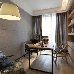 原木现代风格书房设计案例