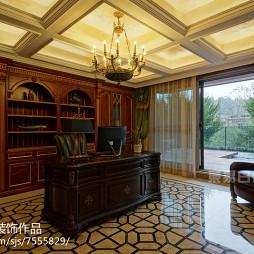 豪华欧式别墅书房装修