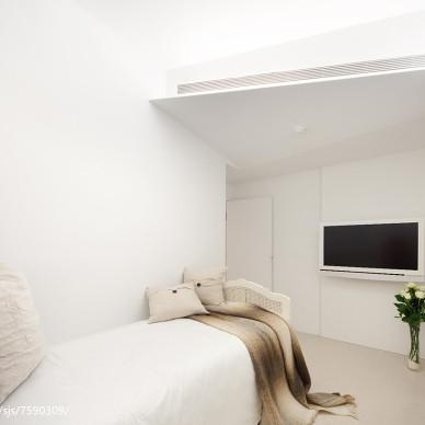 纯白简约风格卧室装修