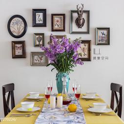 美式餐厅照片墙设计