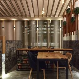 大江户日式料理店就餐区装修