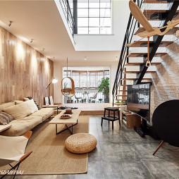 明亮LOFT风格客厅设计