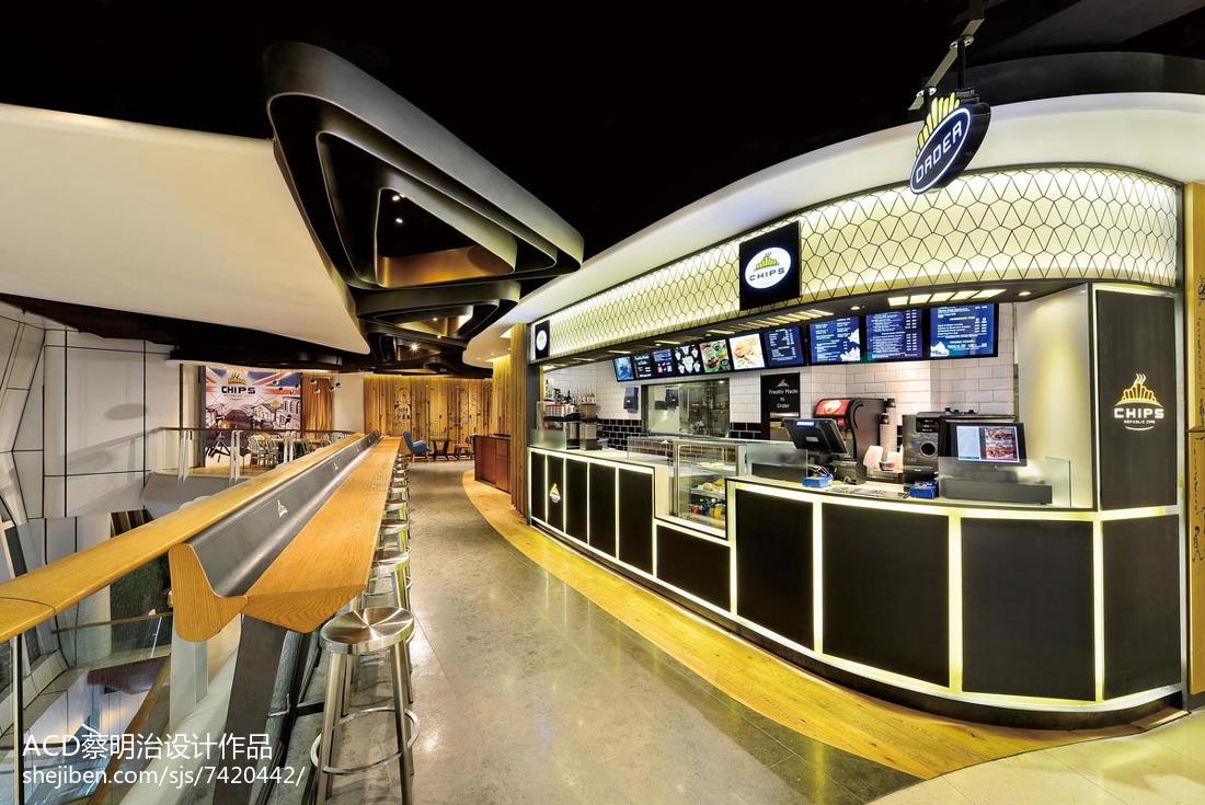 商场咖啡厅吧台设计