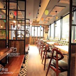 工装面里巴人快餐厅设计