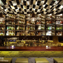 褐石酒吧酒柜设计