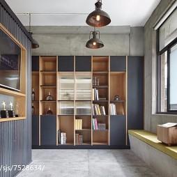 双面办公空间阅读区装修