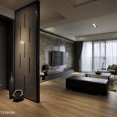现代风格三居室隔断设计