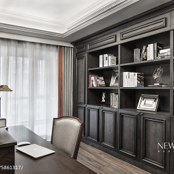 简约现代风格三居室书房装修大全
