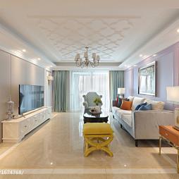 浪漫法式风格客厅装修
