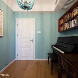 沁蓝美式书房装修案例