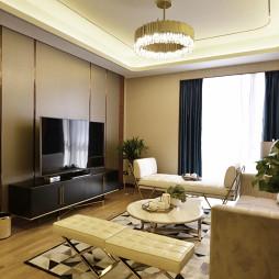 舒适简欧风格客厅装饰图