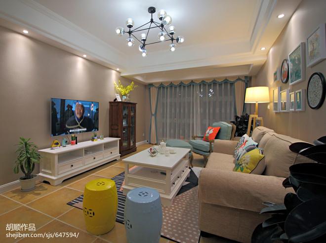 梦幻美式客厅设计