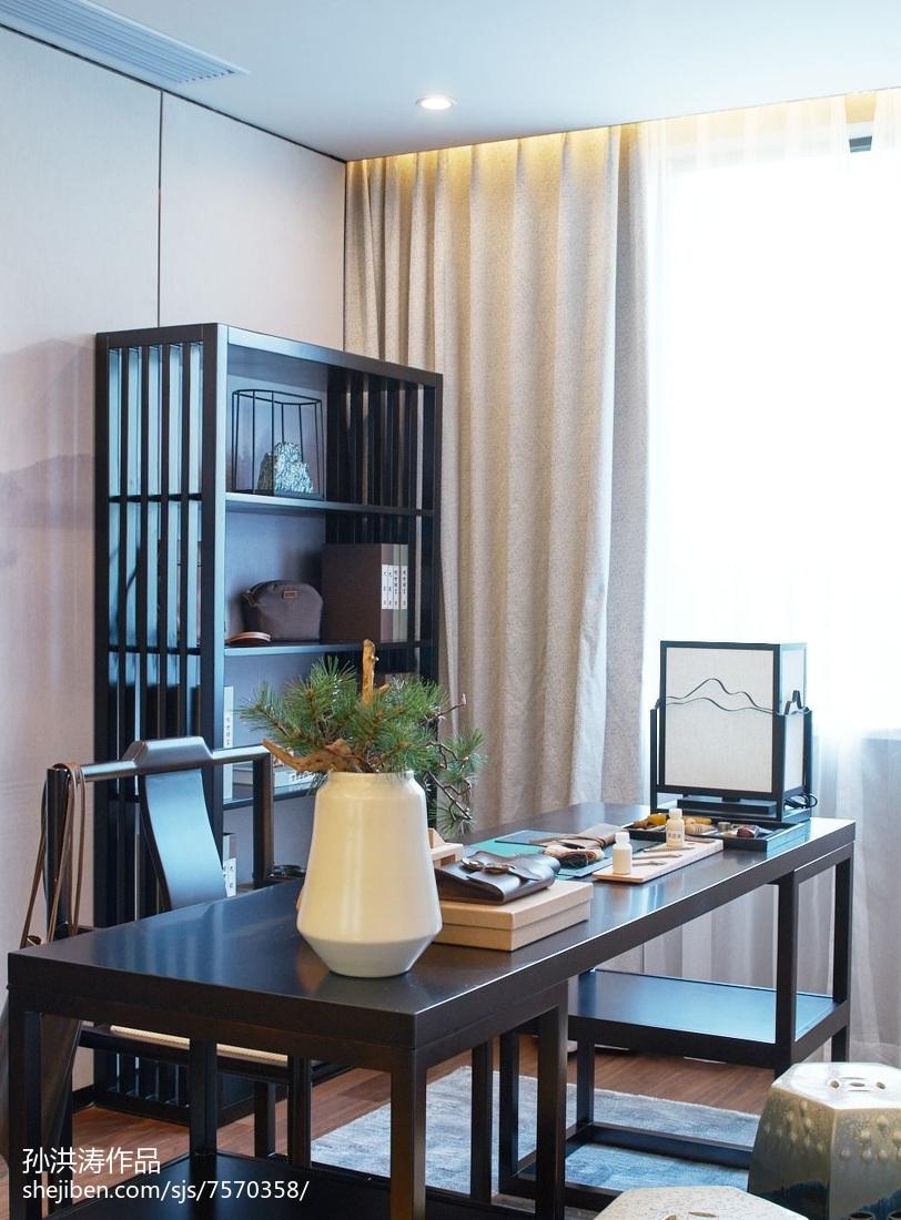 餐厅吊灯模型_中式样板房书房效果图 – 设计本装修效果图