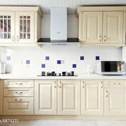 地中海风格米白色橱柜设计