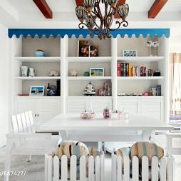 地中海风格白色餐厅装修
