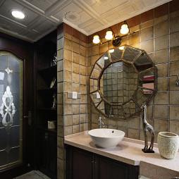 复古美式卫浴装饰图
