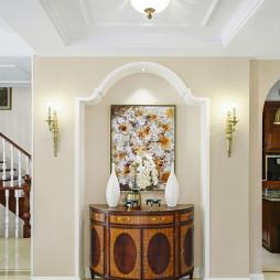 美式风格别墅玄关装修