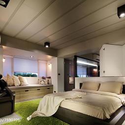 质感现代风格别墅卧室装修