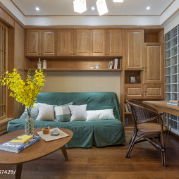 自然日式小户型客厅装修