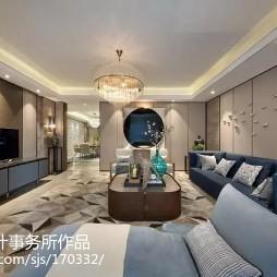 雅致中式风格客厅装修案例