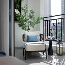 自然中式风格阳台设计